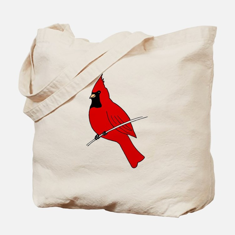 Red Cardinal Tote Bag