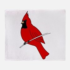 Red Cardinal Throw Blanket