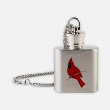 Red Cardinal Flask Necklace