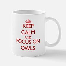 Keep Calm and focus on Owls Mugs