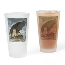 Funny Rain Drinking Glass