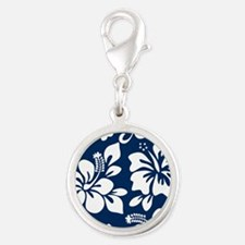 Navy Blue Hawaiian Hibiscus Charms