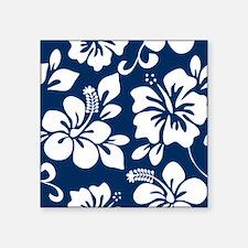 Navy Blue Hawaiian Hibiscus Sticker