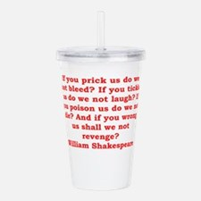 william shakespeare Acrylic Double-wall Tumbler