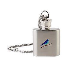 Bluebird Flask Necklace