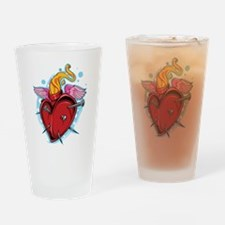 Flying Nailed Heart Drinking Glass