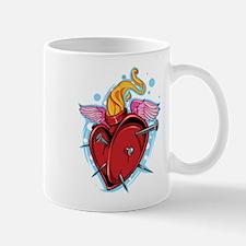 Flying Nailed Heart Mugs