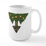 Art Nouveau Orange Tree Large Mug