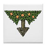 Art Nouveau Orange Tree Tile Coaster