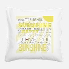sunshine11 Square Canvas Pillow