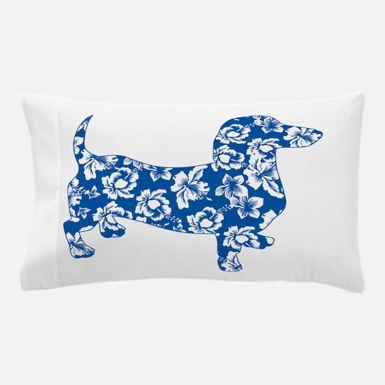 Hawaiian Dachshund Doxie Pillow Case