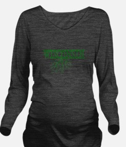 Wisconsin Roots Long Sleeve Maternity T-Shirt