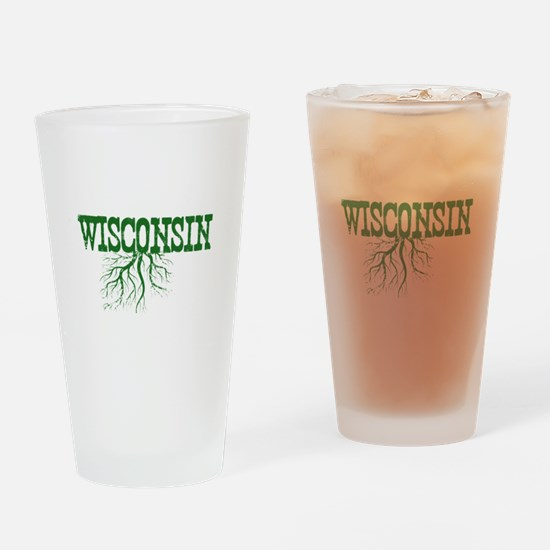 Wisconsin Roots Drinking Glass