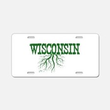 Wisconsin Roots Aluminum License Plate