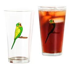 Budgie Bird Drinking Glass