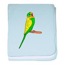 Budgie Bird baby blanket