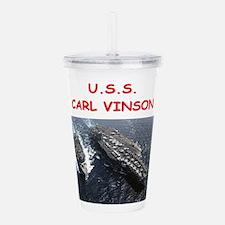 uss carl vinson Acrylic Double-wall Tumbler