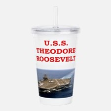 theodore roosevelt Acrylic Double-wall Tumbler