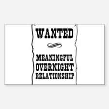 Wanted Meaningful Overnight Relationship Decal