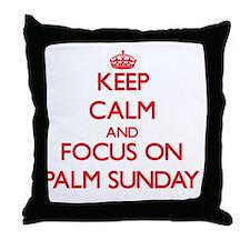 Unique Palm sunday Throw Pillow