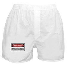 Warning Mouth Operates Faster Than Brain Boxer Sho