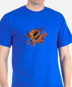 Chinese Dragon Blue T-Shirt