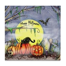 Halloween Scene Tile Coaster