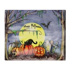 Halloween Scene Throw Blanket
