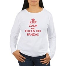 Keep Calm and focus on Pandas Long Sleeve T-Shirt