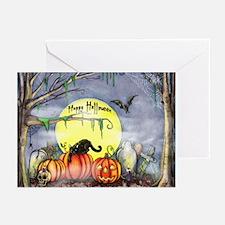 Halloween Scene Greeting Cards