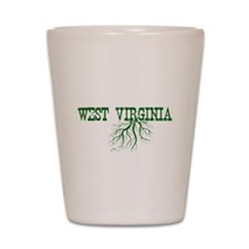 West Virginia Roots Shot Glass