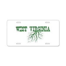 West Virginia Roots Aluminum License Plate
