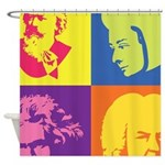 Classical Composer Pop Art Shower Curtain