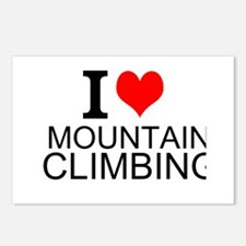 I Love Mountain Climbing Postcards (Package of 8)