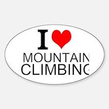 I Love Mountain Climbing Decal