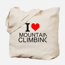 I Love Mountain Climbing Tote Bag