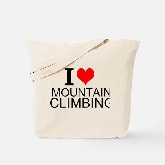 I Love Mountain Climbing Tote Bag