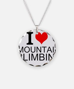 I Love Mountain Climbing Necklace