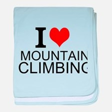 I Love Mountain Climbing baby blanket