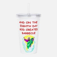 BARBECUE.png Acrylic Double-wall Tumbler