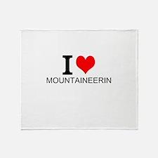 I Love Mountaineering Throw Blanket