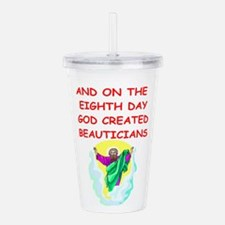 BEAUTICIANS.png Acrylic Double-wall Tumbler