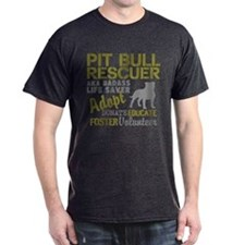 Pit Bull Rescuer Vintage Style T-Shirt