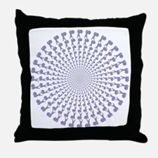 648 Pipe Band Bass Drummers Throw Pillow