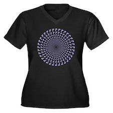 648 Pipe Ban Women's Plus Size V-Neck Dark T-Shirt