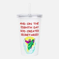 SECRETARIES.png Acrylic Double-wall Tumbler