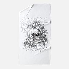 Skull and Roses Beach Towel