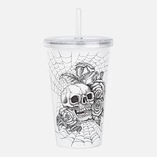 Skull and Roses Acrylic Double-wall Tumbler