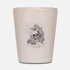 Skull and Roses Shot Glass