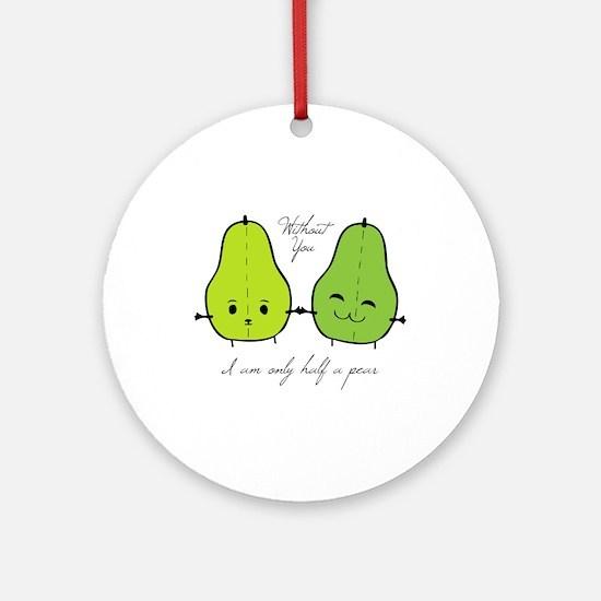 Half A Pear Ornament (Round)
